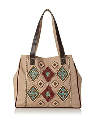 Mare Sole Amore Women's Diamond Tote Bag (Camel)