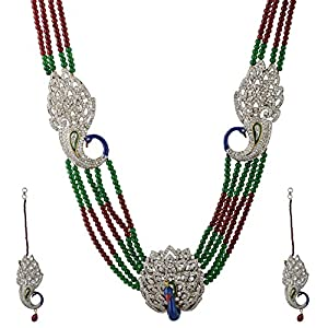 """Peacock Bridal necklace""."
