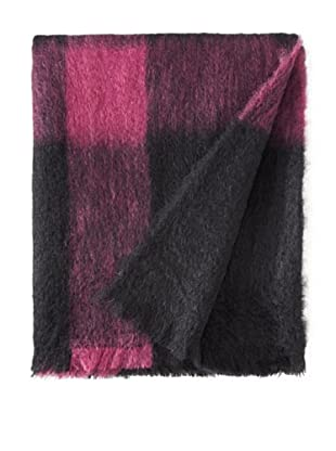 BRUN DE VIAN-TRIAN Mohair Throw, Noir/Violette