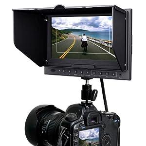 【クリックでお店のこの商品のページへ】Hanwha / HDMI入出力 & EOS 5D MarkIIモード搭載 7インチ液晶カラーモニター HM-TLB7AD: 家電・カメラ