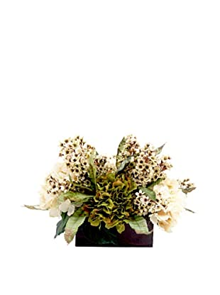 Creative Displays Green & Cream Hydrangea with Lilacs