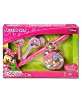 Disney Minnie Mouse Bow-tique Music Boxed Set w/Flute Maracas & Tamborine ages 3 and up