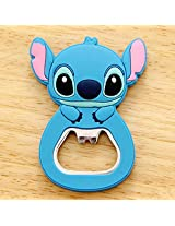 1 Pcs Cute Cartoon Silicone Multi-function Bottle Opener Stainless Steel Wine Beer Opener With Fridge Magnet Kitchen Tools