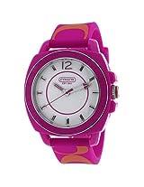 Coach Coach Boyfriend Watch Silicon Rubber Pink Orange Strap 14501465 - 14501465