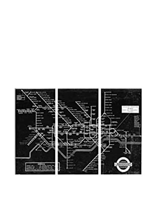 Oliver Gal London Underground Map 1934 Triptych Canvas Art