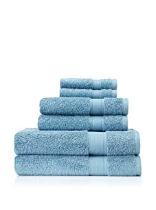 Terrisol 6-Piece Egyptian Cotton Bath Towel Set (Teal)