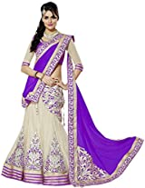Khodiyar Creation Purple Net And Georgette Party And Wedding Lehenga