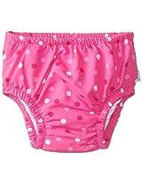 i play. Baby Girls' Ultimate Ruffle Swim Diaper Dot UPF 50+