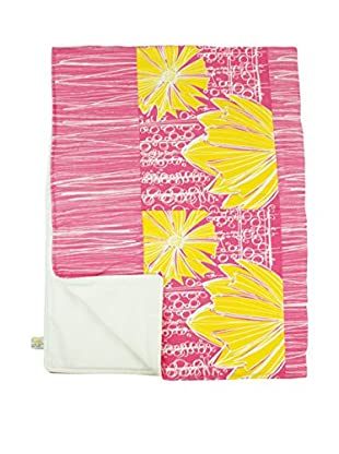 Jacque Pierro Duches In Pink Lemonade Throw, Pink/Yellow/White