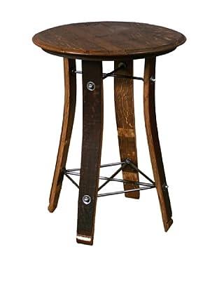 2 Day Designs Barrel Top Side Table, Caramel, 28
