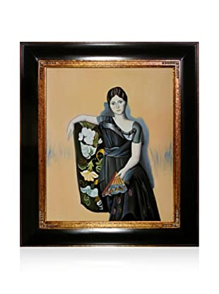 Pablo Picasso Portrait of Olga in The Armchair Framed Oil Painting, 20 x 24