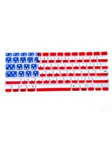 "HDE Silicone Rubber Keyboard Skin for MacBook Pro with Retina Display and MacBook Air 13"" (American Flag)"