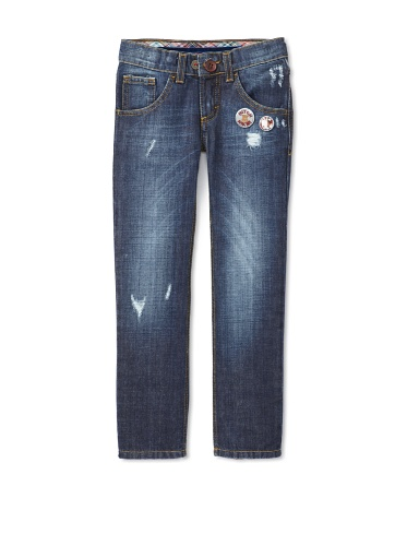 hitch-hiker Boy's Straight Leg Jeans (Blue Stone)