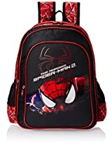 Spiderman 45 litres Black and Red Children's Backpack (St-Rs-2008-18)