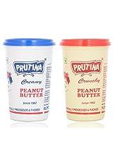 Prutina Peanut Butter (Creamy & Crunchy) Pack Of 2 - 800 Gm