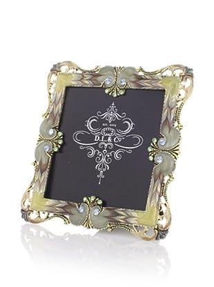 """D.L. & Co. Home Metal Embellished 4"""" x 4"""" Frame"""