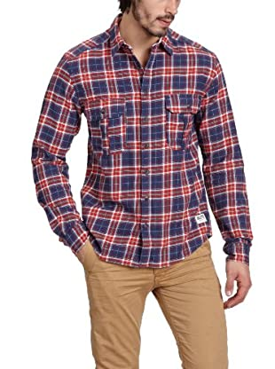 JACK & JONES Camisa (Rojo / Azul)