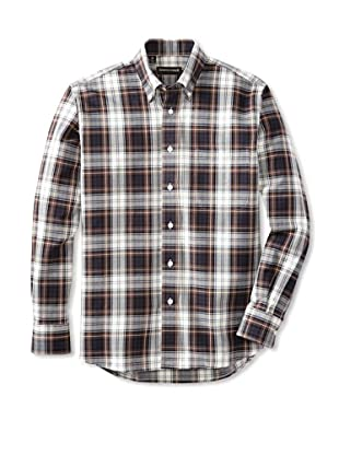 Kenneth Gordon Men's Plaid Button Down Shirt (Multi Plaid)