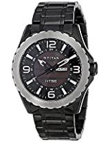 Titan Black Leather Men Watch NE1572KM02