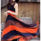 3 Color Maxi Dress