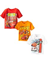 Disney Little Boys' Cars 3 Pack T-Shirt, Multi, 2T