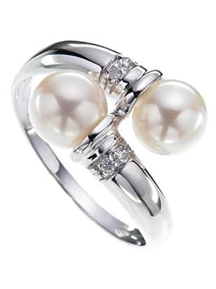 Le Perla di Emi Kaway Anillo Andreana Oro Blanco 18 ct Perla 6.5 mm