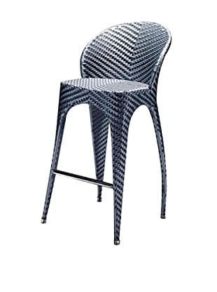 100 Essentials Flora All-Weather Bar Chair, Deep Sea