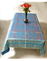 Elephant & Peacock Work Design Home Decor Table Cloth 57 X 69 Inches
