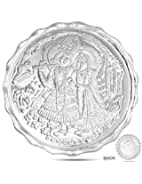 10 Grams Silver Coin of lord Radha Krishna 99.90 Finess