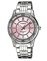 Casio Enticer Analog Pink Dial Women's Watch - LTP-1358D-4AVDF (A805)