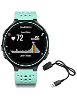 Garmin Forerunner 235 GPS Sport Watch - Frost Blue - Charging Clip Bundle includes Forerunner 235 GPS and Charging Clip