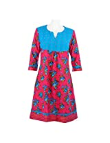 Cotton Curio Women's Traditional Kurti_M - (11003404_M_Pink)