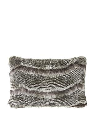 Montague & Capulet Faux Siberian Boudoir Pillow, Grey