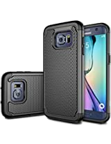 Galaxy S7 Edge Case, E LV Full Body Hybrid Armor Protection Defender Case Cover - Dual Layer Case Cover for Samsung Galaxy S7 Edge - [BLACK]