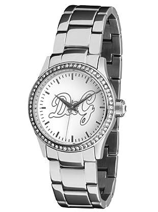 D&G DW0846 - Reloj de Señora movimiento de cuarzo con brazalete metálico Blanco