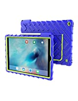 Apple iPad Pro Case Silicone Rugged Shock Absorbing Protective Dual Layer Cover Case High Impact - Gumdrop Cases Hideaway with Stand - Blue
