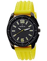 Aveiro Fashion Analog Black Men's Watch (AV49BLKYLW)