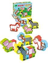 Vilac Magnetic Blocks, Farm Animal