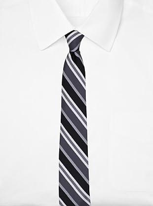 Ben Sherman Men's Elton Stripe Tie, Black