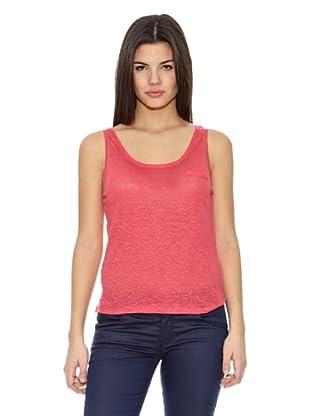Springfield Camiseta T Tir Lino Plana (Coral)