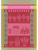 Garnier Thiebaut 100-Percent Cotton Confiserie Guimauve Kitchen Towel, 22 by 30-Inch, Mauve