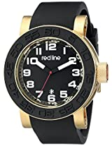 red line Men's RL-50051-YG-01 Xlerator Analog Display Japanese Quartz Black Watch