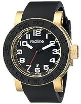 red line Men's RL-50051-YG-01 Xlerator Analog Display Japanese Quartz Black Watch