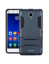 Cubix Robot Series Slim Hybrid Defender Bumper shock proof Case Cover for XIAOMI MI 4 (Navy Blue)