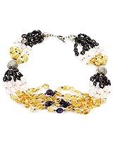 925-Silver Amethyst Princess Gemstone Necklace For Women 11559