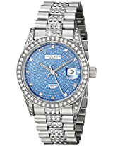 Akribos XXIV Men's AK486BU Impeccable Analog Display Japanese Quartz Silver Watch