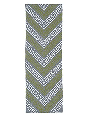 Kaleen Matira Indoor/Outdoor Rug, Grey, 2' x 6' Runner