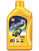 Shell Advance AX5 550031425 20W-40 Premium Mineral Motorbike Engine Oil (900 ml)