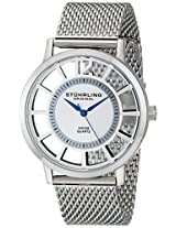 Stuhrling Original Classic Analog Silver Dial Men's Watch - 388M.01