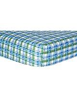Trend Lab Crib Sheet, Blue Plaid